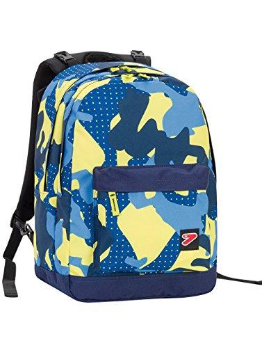 Zaino SEVEN – THE DOUBLE PRO XXL – Camouflage Blue Giallo