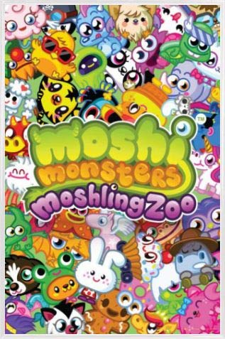 1art1 Moshi Monsters Póster con Marco (Plástico) - Moshling Zoo (91 x 61cm)