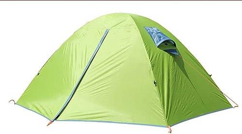 W&J Tente à l'extérieur, tente de camping double Decker Double homme, parasol portable parasol plage Sun Shelter, camping familial randonnée pêche utilisation en plein air, 3 saison