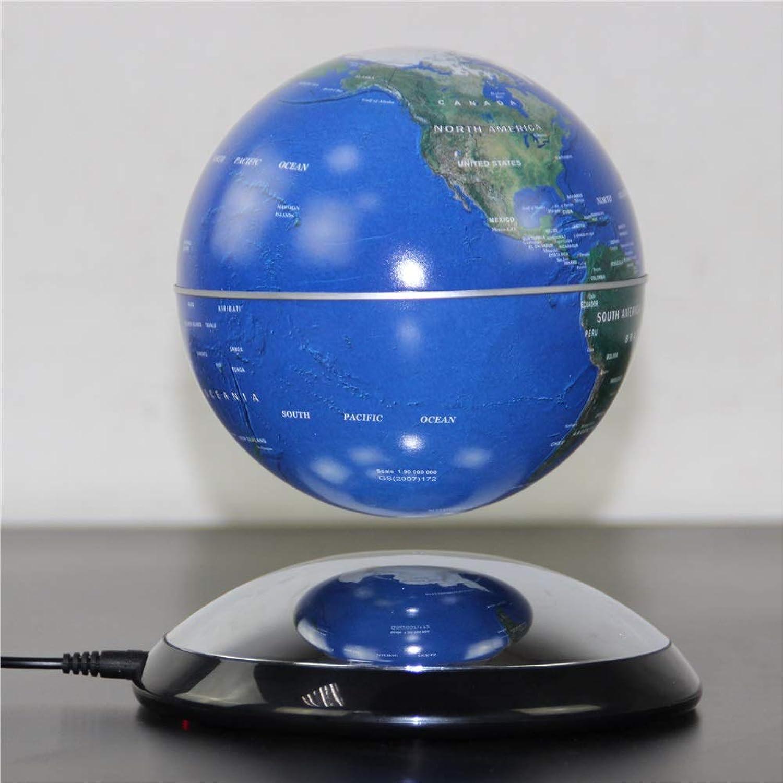 compras online de deportes Globo Giratorio del del del Mundo Globo magnético Mapa del Mundo Flotante Globo con luz giratoria LED Ayudas didácticas Atracción iluminada (Color   Azul)  tienda de pescado para la venta