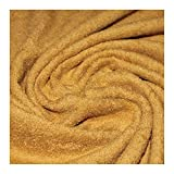 Stoff am Stück Stoff Bio-Baumwolle Frottee ocker Frotté