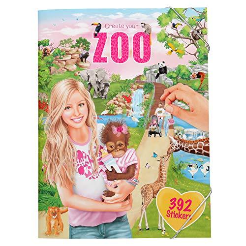 Depesche 10746 Stickerheft Create Your Zoo, ca. 33 x 25 x 0,5 cm, bunt