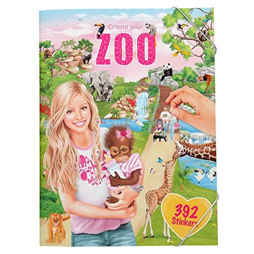 Depesche 10746 Stickerheft Create Your Zoo, ca. 33 x 25 x 0,5 cm, bunt