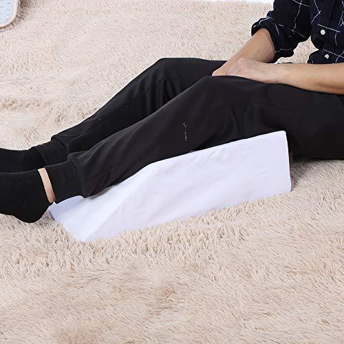 Changor Almohada de elevación de doble pierna, almohada de apoyo de piernas hecha de esponja de 50 x 20 x 15 cm para mayor comodidad (azul)