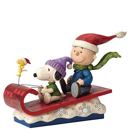 Enesco 4052726 Peanuts by Jim Shore Charlie Brown on Sleigh Stone Resin Figurine