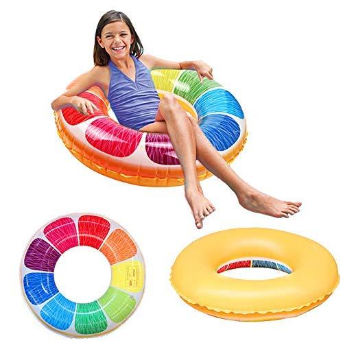 QUN FENG Opblaasbaar zwembad Float Feestbuis Vlot Buitenstrand Zwembad Opblaasbaar vlotter Zwemringen Water Speelgoed Floatie Lounge Speelgoed voor volwassenen en kinderen vanaf 14 jaar