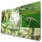 Dinosaurier Wachstum Multifunktionale Schreibtisch-Pad, Gaming große Tastatur Mauspad mit genähten...