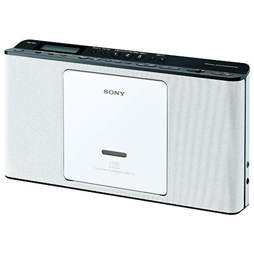 ソニー CDラジオ ZS-E80 : FM AM ワイドFM対応 語学学習用機能搭載 ホワイト ZS-E80 W