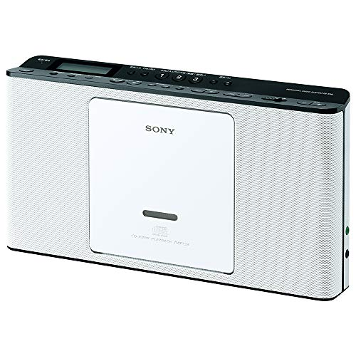 ソニー SONY CDラジオ ZS-E80 : FM/AM/ワイドFM対応 語学学習用機能搭載 ホワイト ZS-E80 W