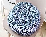 LanXin 2PC Patio cómodo Suave Ronda de algodón y Lino Pad Chair Patio Inicio de Cocina Oficina Coffice Hoja cojín de Asiento a (Color : Wave, Size : 50 * 50)