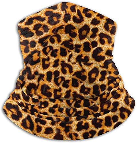 Niet bruikbare microvezel nekwarmer luipaardpatroon camo nek gaiter tube oorwarmer hoofdband sjaal gezichtsmasker bivakmuts voor mannen en vrouwen