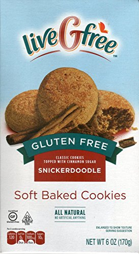 Live G Free Gluten Free Snickerdoodle Soft Baked Cookies (Pack of 2)
