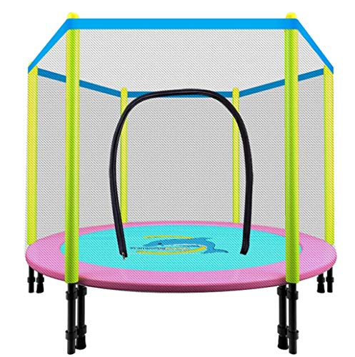 TBTBGXQ Trampoline with Enclosure Net, 48inch Indoor Kids Safety Mini Fitness Trampoline Round Rebounder Exercise Trampoline Help Children Grow and Play