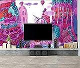 LUCK CAT Papier Peint Dessin Animé Poney Caractère Chambre pour Enfants Chambre à Thème Fond Mur Couvrant-150 * 105 cm (59,1 * 49,3 Pouces)
