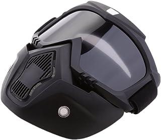 MagiDeal Casco con Máscara Gafas Regalo de Motorista Piezas para Motocicleta - Humo