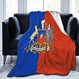 Bandera de Chile en el estilo de Portugal Manta de franela mullida, cómoda, cálida, ligera, suave, para sofá, dormitorio, manta