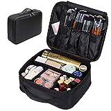 Portable Makeup Bag, FLYMEI Make Up Bag Large Capacity Train Case, Professional Makeup Artist Case, Waterproof Travel Organizer Case for Women/Girls, Travel Makeup Bag