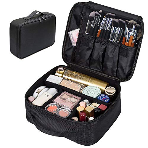 Portable Makeup Bag, FLYMEI Make Up Bag Large Capacity Train Case, Professional Makeup Artist Case, Waterproof Travel Organizer Case for Women/Girls, Travel Makeup Bag