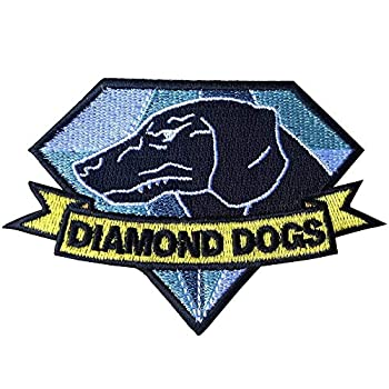 Diamond Dogs Embroidered Tactical Morale Patches Metal Gear Solid Emblem Badge Applique with Hook and The Loop Big Boss Cosplay Tactical Gear Shoulder Patch
