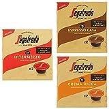 Segafredo - 36 Capsule Compatibili A Modo Mio, Linea Le Classiche Gusto Intermezzo, Espresso Casa e Crema Ricca - 3 Astucci da 12 Capsule
