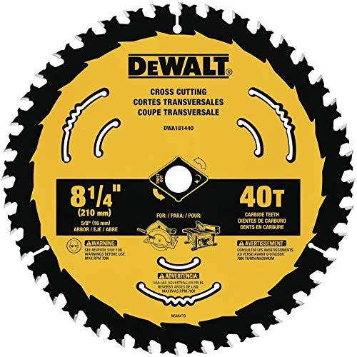 DEWALT DWA181440 8-1/4-Inch 40-Tooth Circular Saw Blade