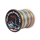 RUNCL Braided Fishing Line with 8 Strands, Fishing Line PE Material 328Yds/300M with Multiple Colors for Freshwater and Saltwater (328Yds/300M, 40LB(18.1kgs))