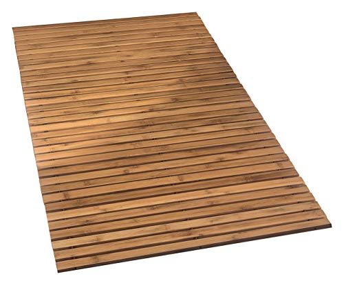 Kleine Wolke Holzmatte Level Badteppich, 100% Bambus, Natur, 115 x 60 cm, 115.00 x 60.00 x cm, 4072202455