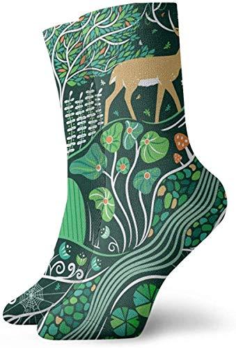 Love girl Unisex Crew Socken Magic Forest Fashion Neuheit Dry Sportsocken Strümpfe 30cm
