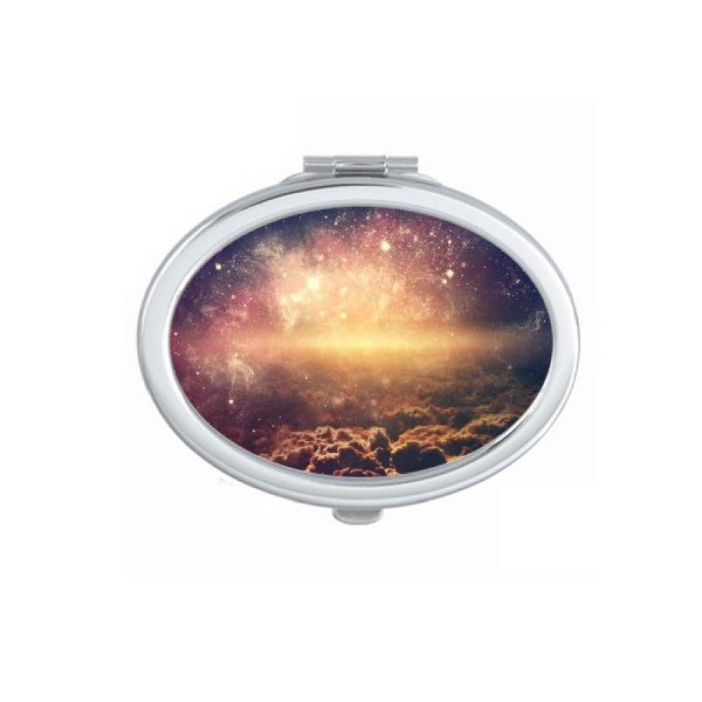 Golden Bombing free shipping New Shipping Free Shipping Space Nebula Cosc Pattern Hand Portable Fold Mirror Makeu