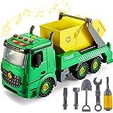 kimonca Camión de Basura con Luces y Sonidos Montar y Desmontar Coche Vehículo Juguete Regalo para Niños Niñas 3 4 5 Año