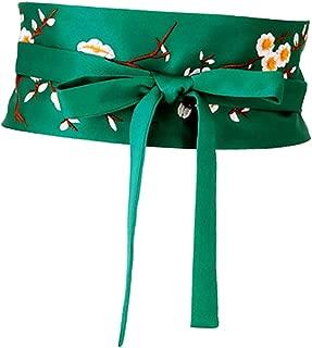 IPOTCH Ladies Embroidered Flower Dress Belt Waist Belt In Japanese Style