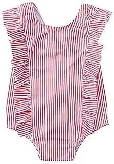 Baby//Toddler Girl Swimsuit Rashguard Ruffles Cartoon Rashguard One-Piece Beach Sunsuitr Bikini Tronet Baby Swimsuit