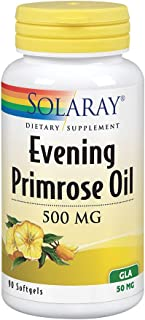 Solaray High Potency Evening Primrose Oil 500 mg   Cold Pressed   Women's Health Support   90 Softgels