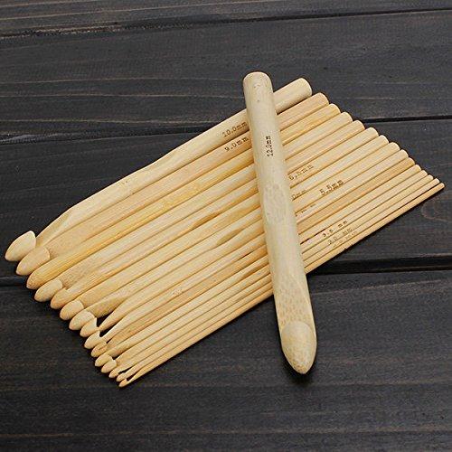 Bazaar 16pcs bamboe trui sjaal haak haken breien ambachtelijke gereedschap