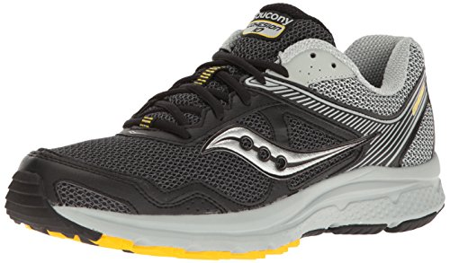 Saucony Men's Cohesion TR10 Trail Runner, Black/Grey/Yellow, 12 M US