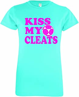 Youth Girls Soccer T-Shirt Kiss My Cleats
