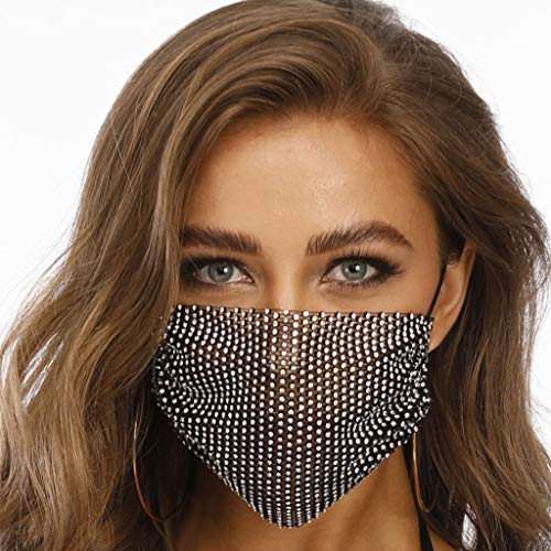 Diamond Face Masks for Men Women,Safety Maks with Adjustable Elastic Ear Loop Safety Dust Air Pollution Protection Outdoor