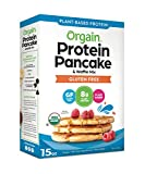 Orgain Protein Pancake & Waffle Mix, Gluten Free - Made with Organic Rice Flour, 8g of Plant Based Protein, Made without Dairy & Soy, Non-GMO, 15 Oz