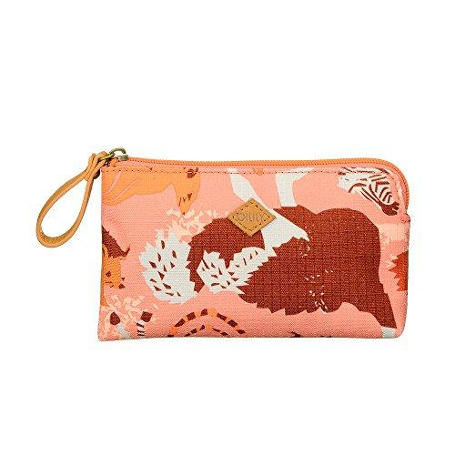 Oilily Kosmetiktasche Sahara Zoo Flat Micro Pouch Pink Flamingo Damen & Mädchen Kulturtasche, Kulturbeutel