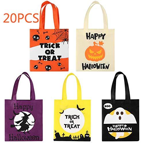 BESTonZON Halloween Tragetaschen Partytüten für Kinder Partys und Geschenke Goodie Taschen für Halloween Leckerei oder Trick Tote 20PCS