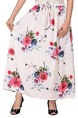 COTTON BREEZE Women's Viscose Skirt (White_Free Size)