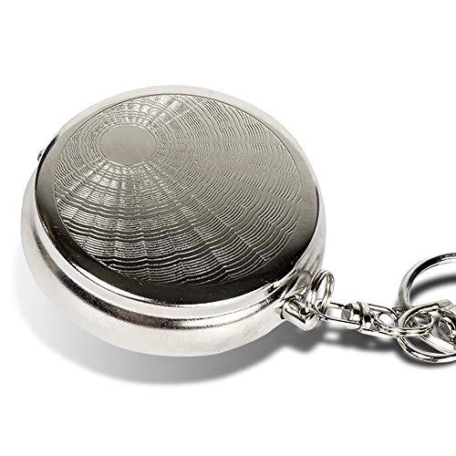 Taschen Aschenbecher für Unterwegs - Geruchsdicht & klein - rund tragbarer Mini Taschenaschenbecher - Reiseaschenbecher zum mitnehmen für die Handtasche - geruchloser Ascher