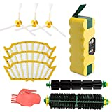 efluky Compatible with Roomba Battery Accessory 3.5 AH Ni-MH Battery and Accessory Part Kit 500 Series 500 510 520 530 531 535 536 540 545 550 - a Set of 10