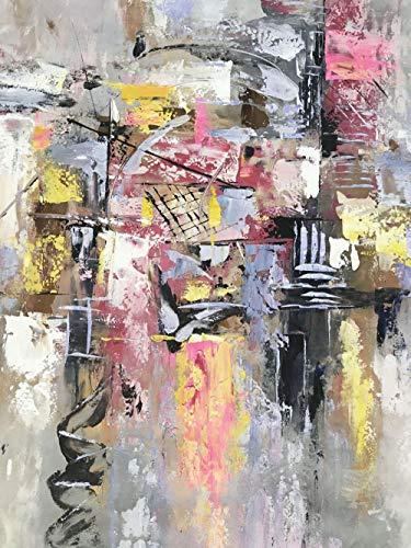 LEPOTN Pintura al óleo Hecha a Mano Cuadros Abstractos Originales de la Sala de Estar en la Pared Lienzo Vertical Pinturas artísticas Grandes Decoraciones para el hogar-40 x72(100X180CM) Sin Marco