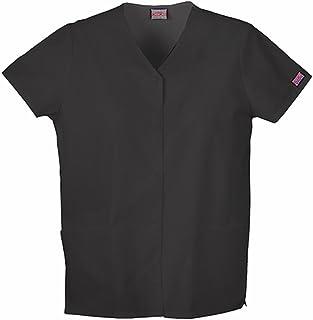 Cherokee Women's Workwear Snap Front V-Neck Scrubs Shirt