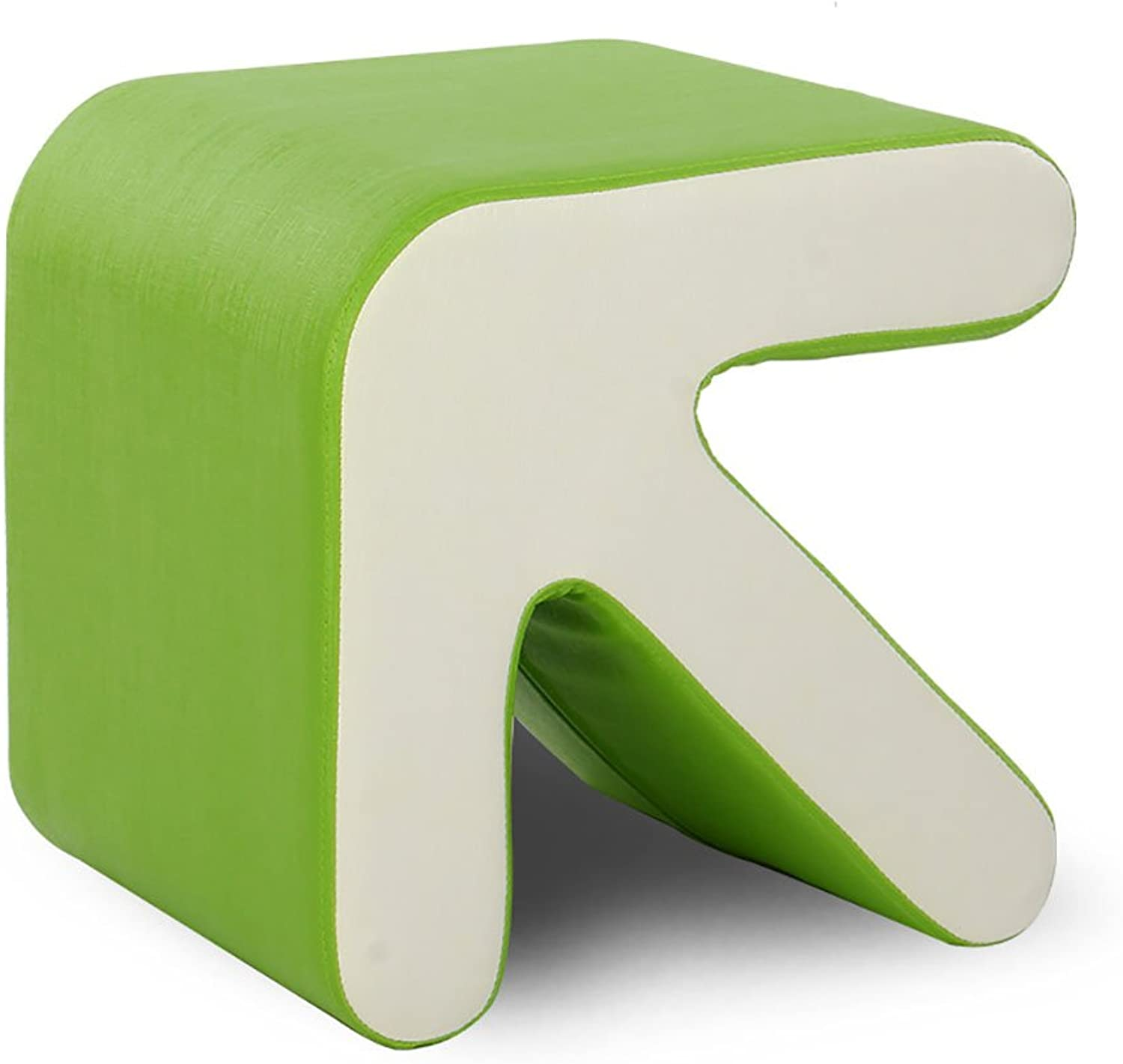 XRXY Solid Wood Arrow Footstool   Creative Changing shoes Stool   Living Room Sofa Stool   Bed Tail Low Stool ( color   Green )