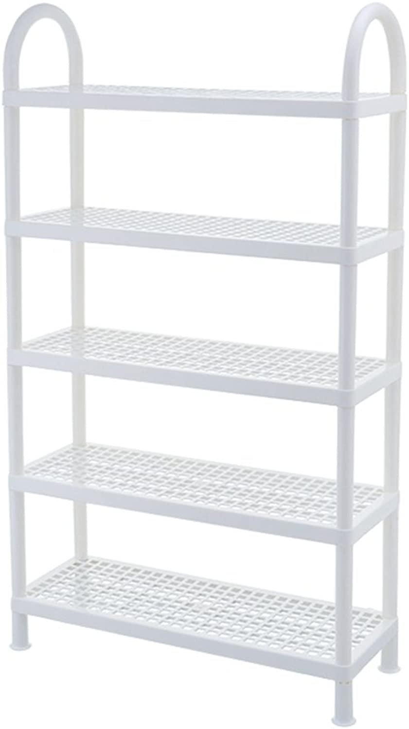 DR shoes Rack Plastic shoes Rack Simple Multi-Layer Assembly Bedroom Dormitory Small shoes Rack Home shoes Cabinet White Storage Rack Storage Shelf (Size   55x20.3x95.8cm)