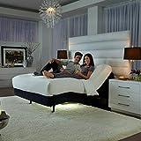 2019 Prodigy 2.0 King Split + 14' Luxury Cool Gel Memory Foam Mattress by Nature's Sleep Leggett & Platt Adjustable Bed Base (Split King (2 Twin XL Power Base & Mattress)