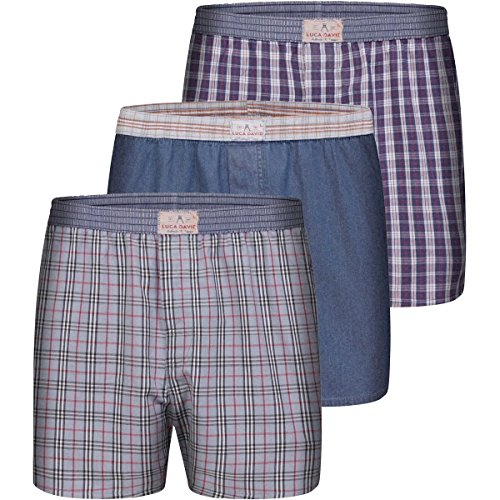 Luca David 'Olden Glory' Vintage-Boxershorts Set: 005 (XL)