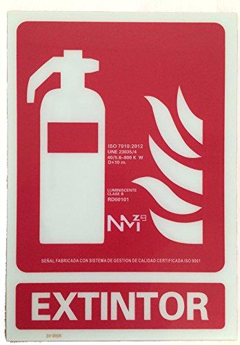 Grupo Cano Lopera | Señal Luminiscente para Extintores de Clase B | Cartel de PVC 0,7mm 21x30cm | Con CTE, RIPCI | Tinta de gran Adherencia y Resistencia | No Tóxico | Apto para la Nueva Legislación